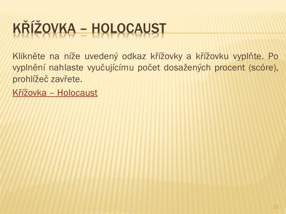 Křížovka – Holocaust