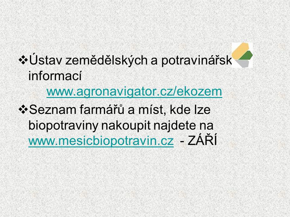 Ústav zemědělských a potravinářských informací. www. agronavigator