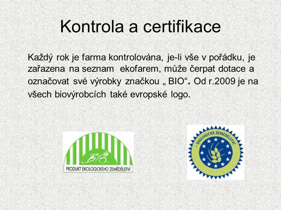 Kontrola a certifikace