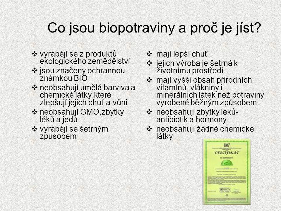 Co jsou biopotraviny a proč je jíst