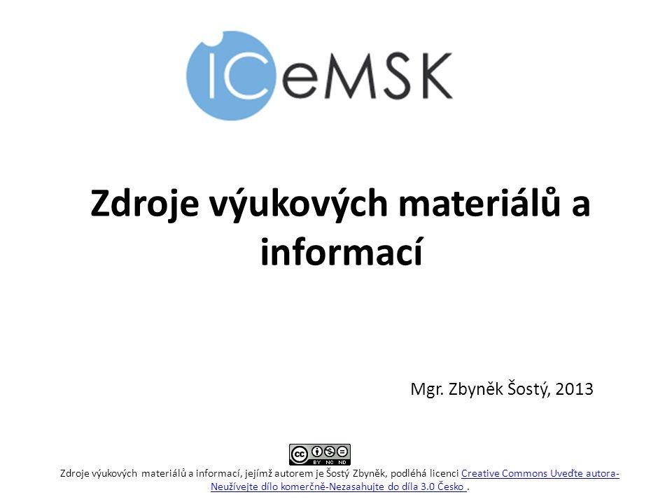 Zdroje výukových materiálů a informací