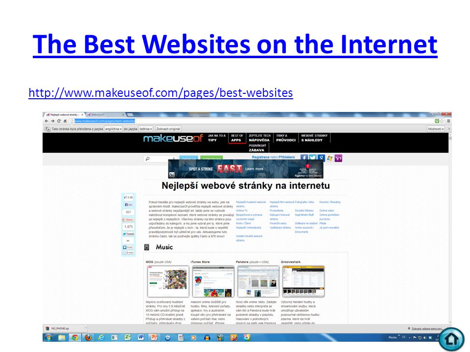 The Best Websites on the Internet