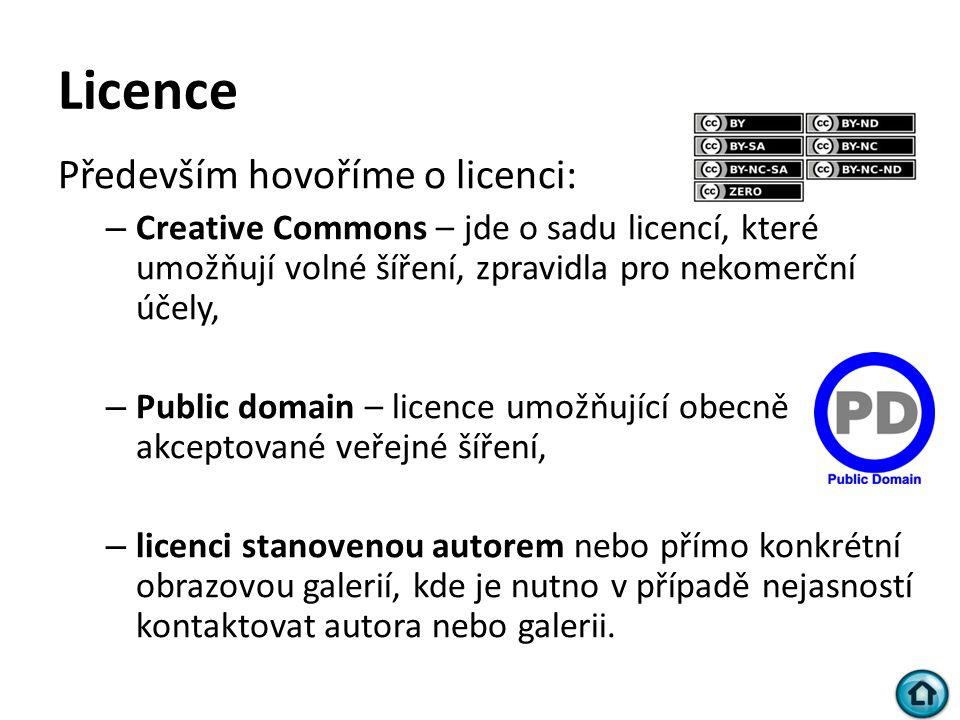 Licence Především hovoříme o licenci: