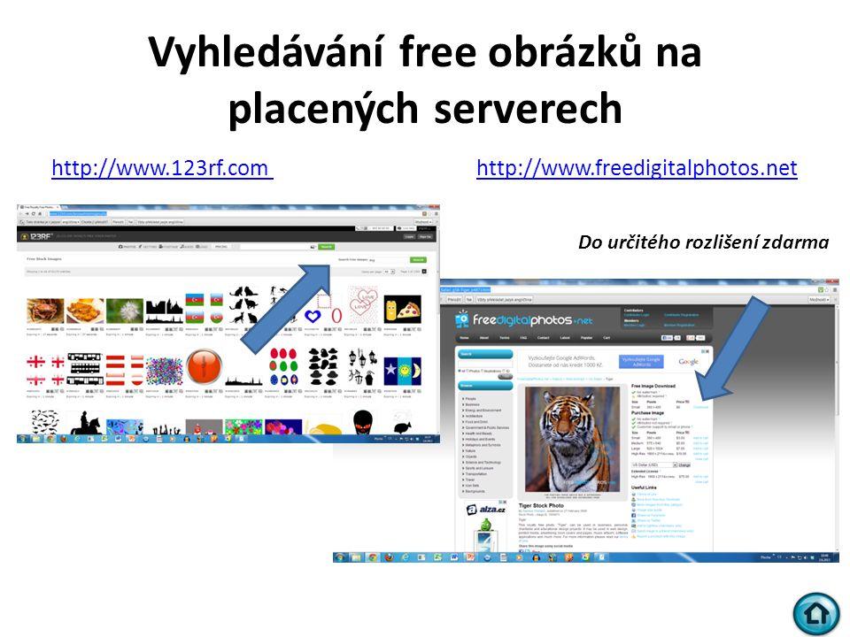 Vyhledávání free obrázků na placených serverech