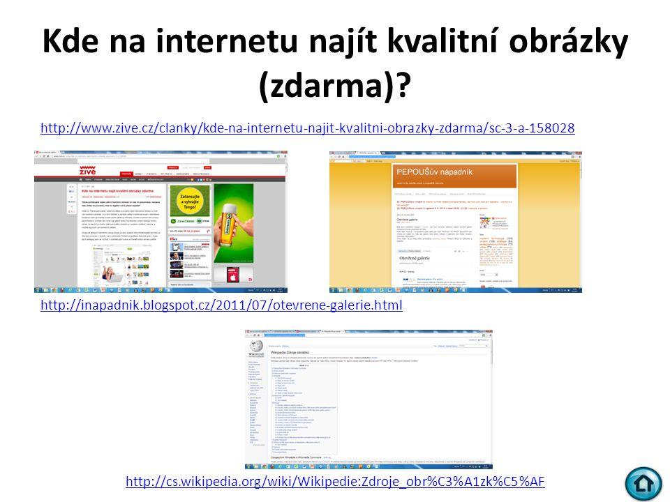 Kde na internetu najít kvalitní obrázky (zdarma)