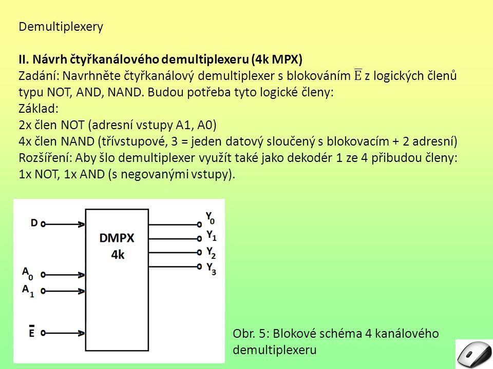 Demultiplexery II. Návrh čtyřkanálového demultiplexeru (4k MPX)