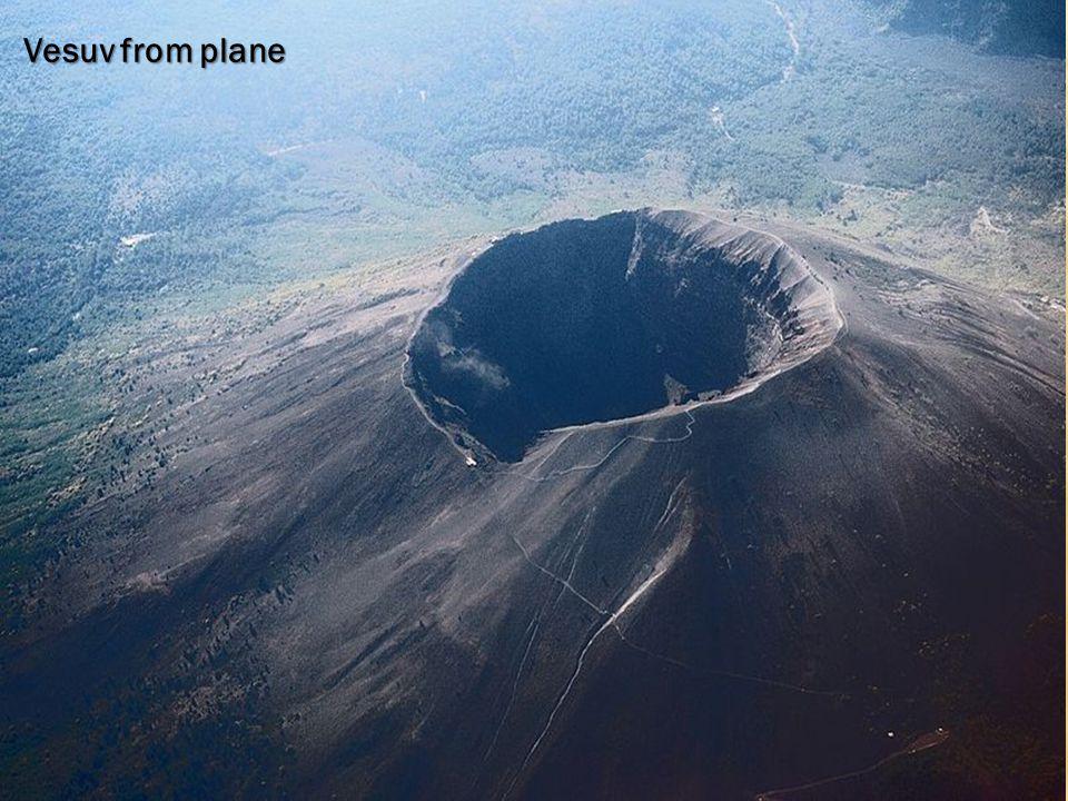Vesuv from plane VESUV