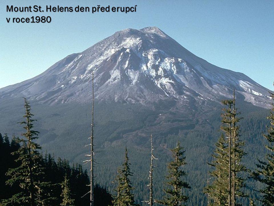Mount St. Helens den před erupcí v roce1980