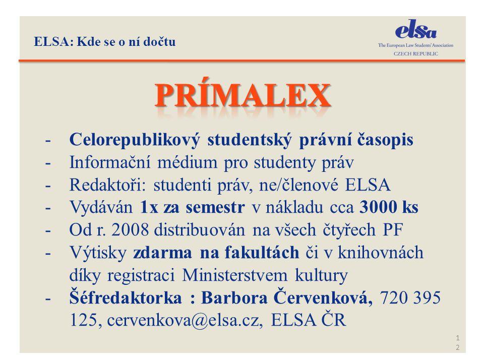 Prímalex Celorepublikový studentský právní časopis