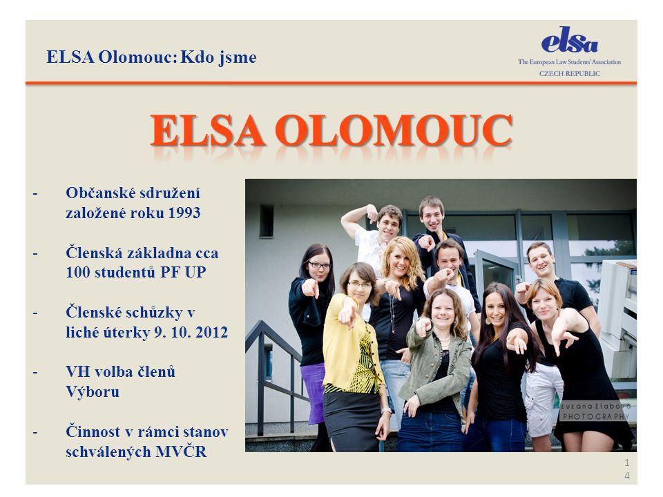 Elsa Olomouc ELSA Olomouc: Kdo jsme