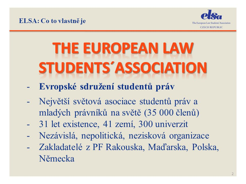 The european law students´association