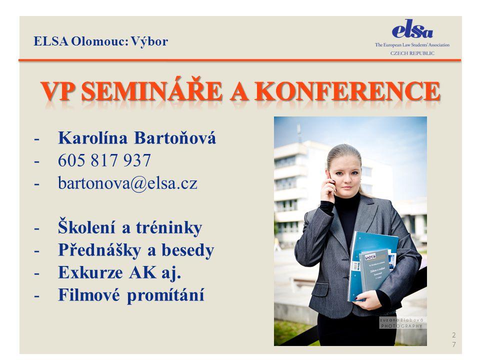VP semináře a konference
