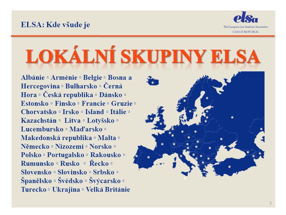 Lokální skupiny Elsa ELSA: Kde všude je