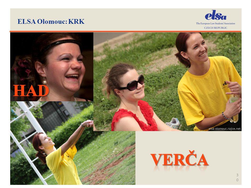 ELSA Olomouc: KRK HAD VErča