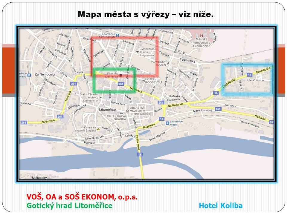 Mapa města s výřezy – viz níže.
