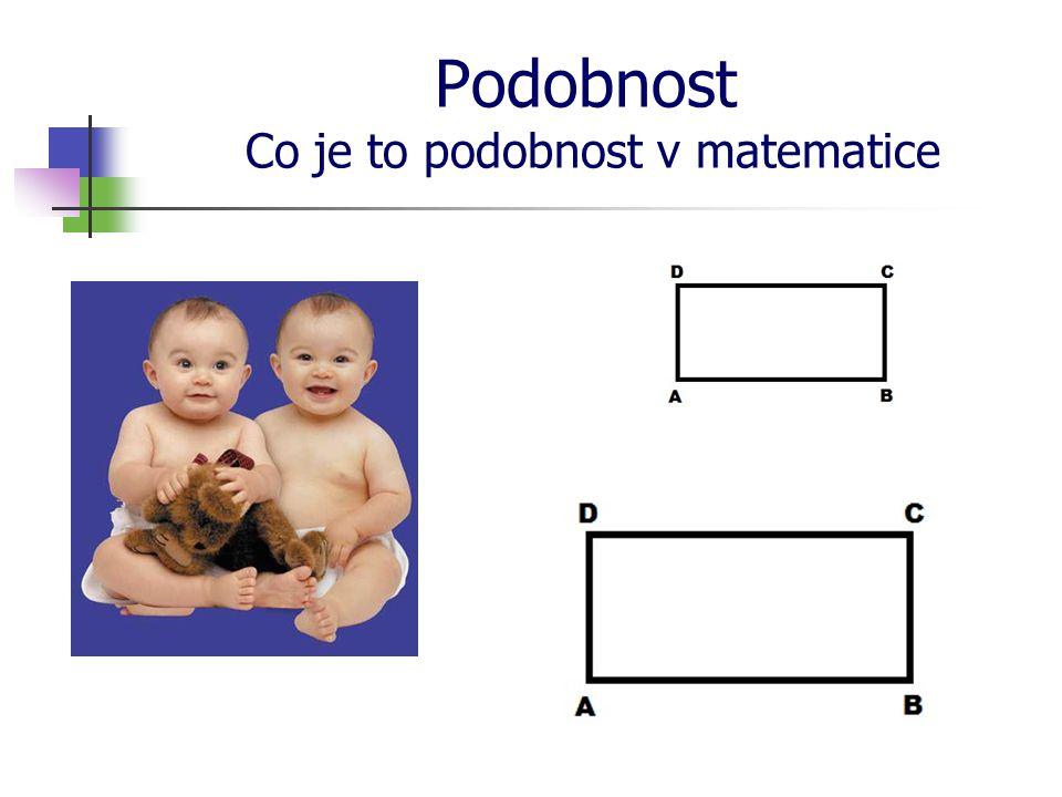 Podobnost Co je to podobnost v matematice