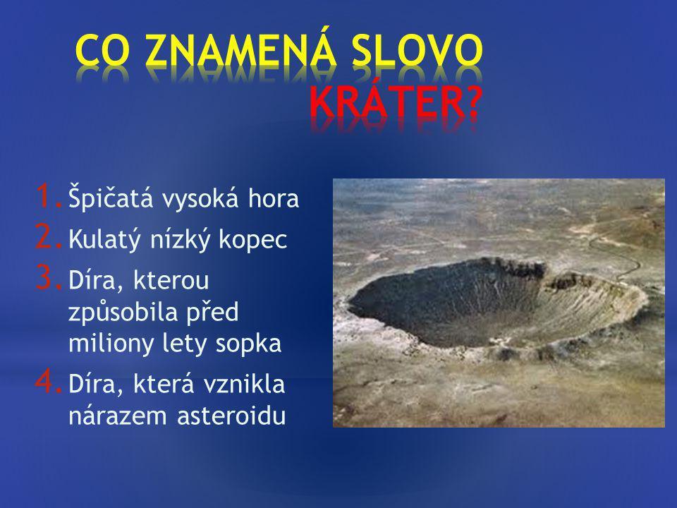 CO ZNAMENÁ SLOVO KRÁTER