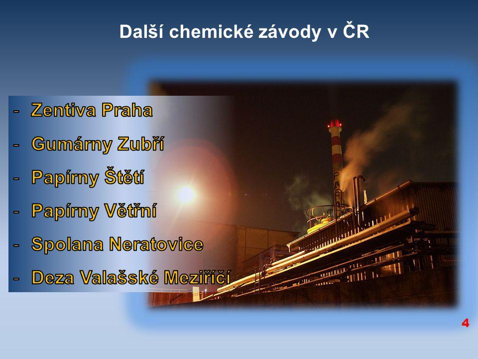 Další chemické závody v ČR