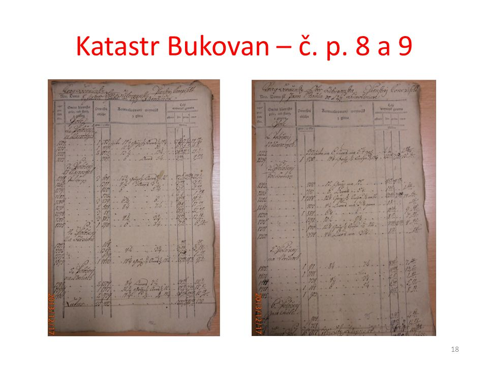 Katastr Bukovan – č. p. 8 a 9