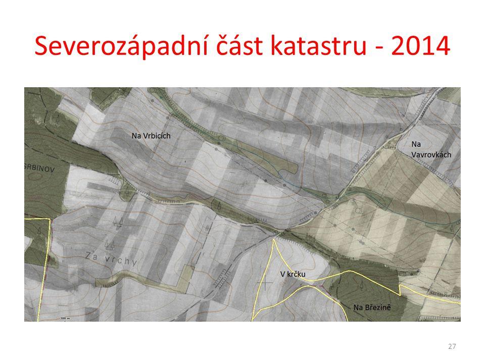 Severozápadní část katastru - 2014