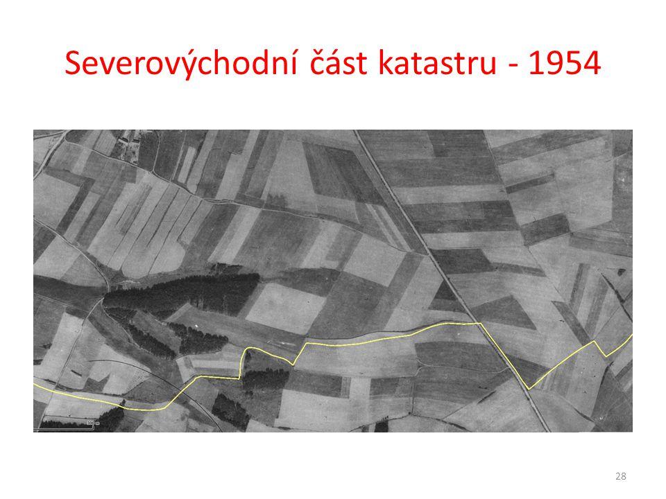Severovýchodní část katastru - 1954