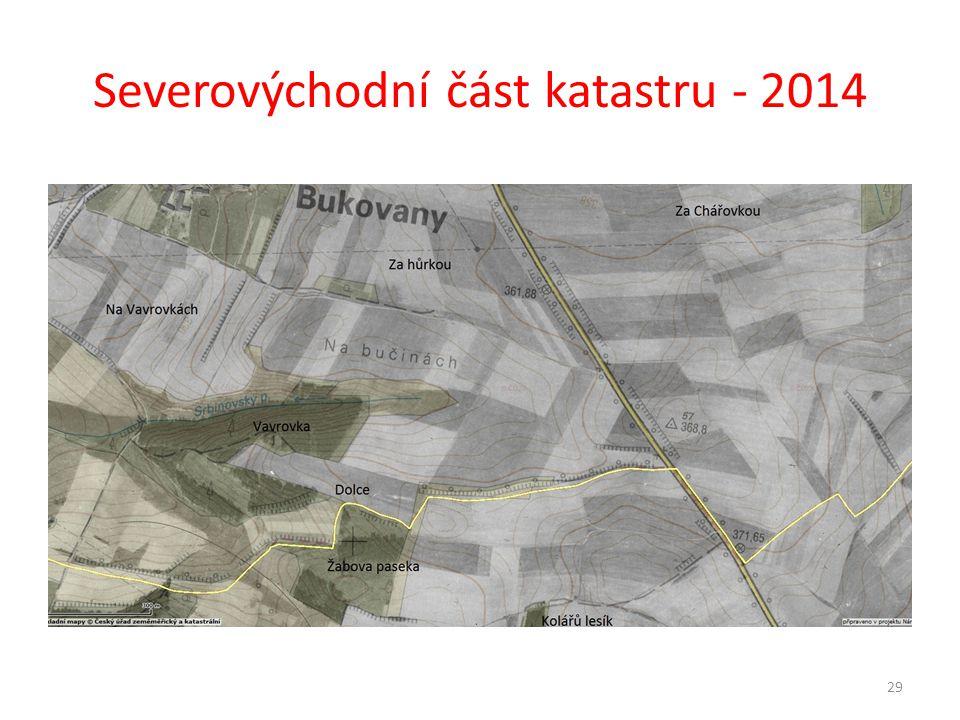 Severovýchodní část katastru - 2014