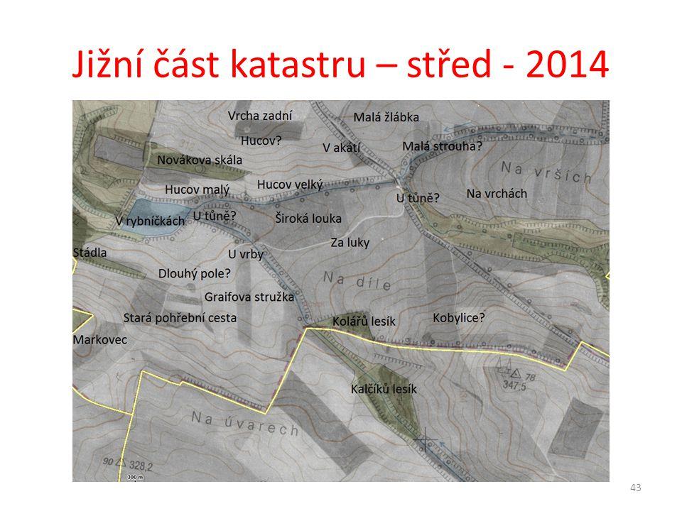 Jižní část katastru – střed - 2014