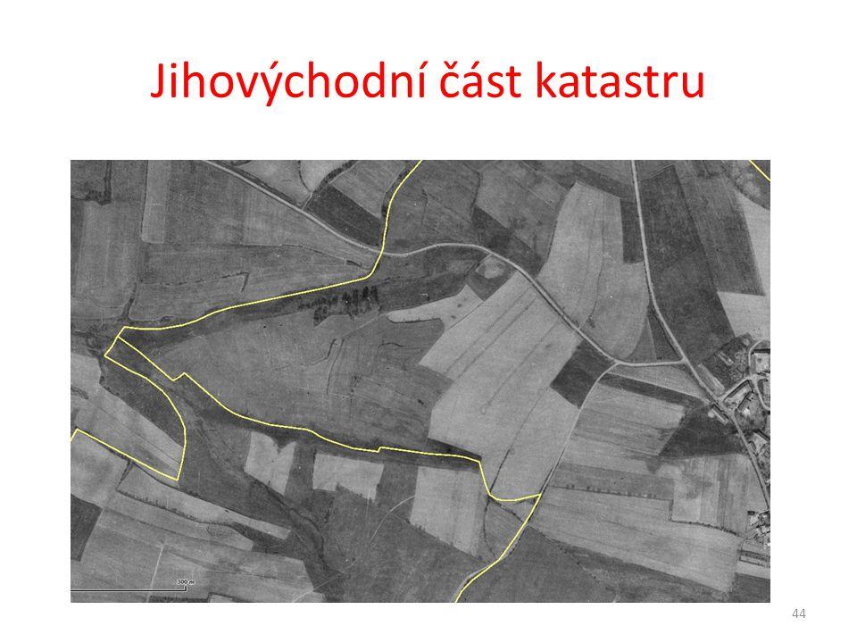 Jihovýchodní část katastru