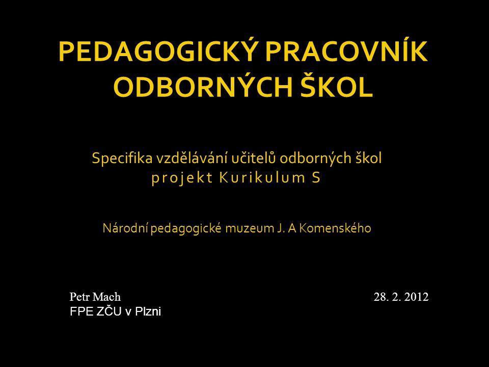 Pedagogický pracovník odborných škol
