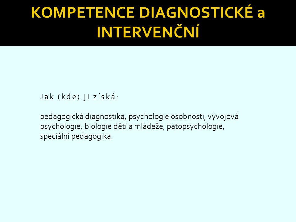 Kompetence diagnostické a intervenční