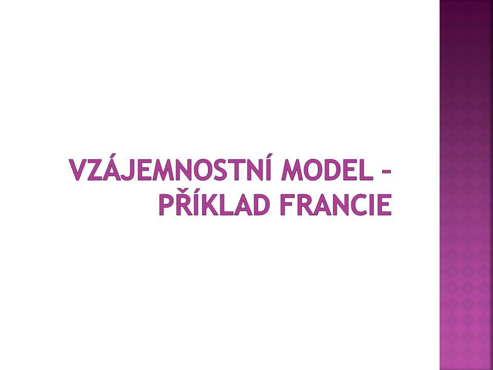 Vzájemnostní model – příklad Francie