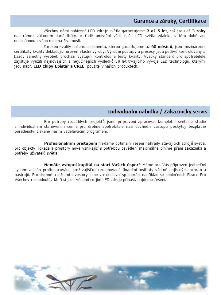Garance a záruky, Certifikace
