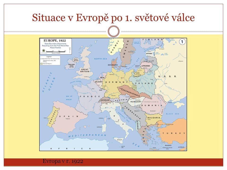 Situace v Evropě po 1. světové válce