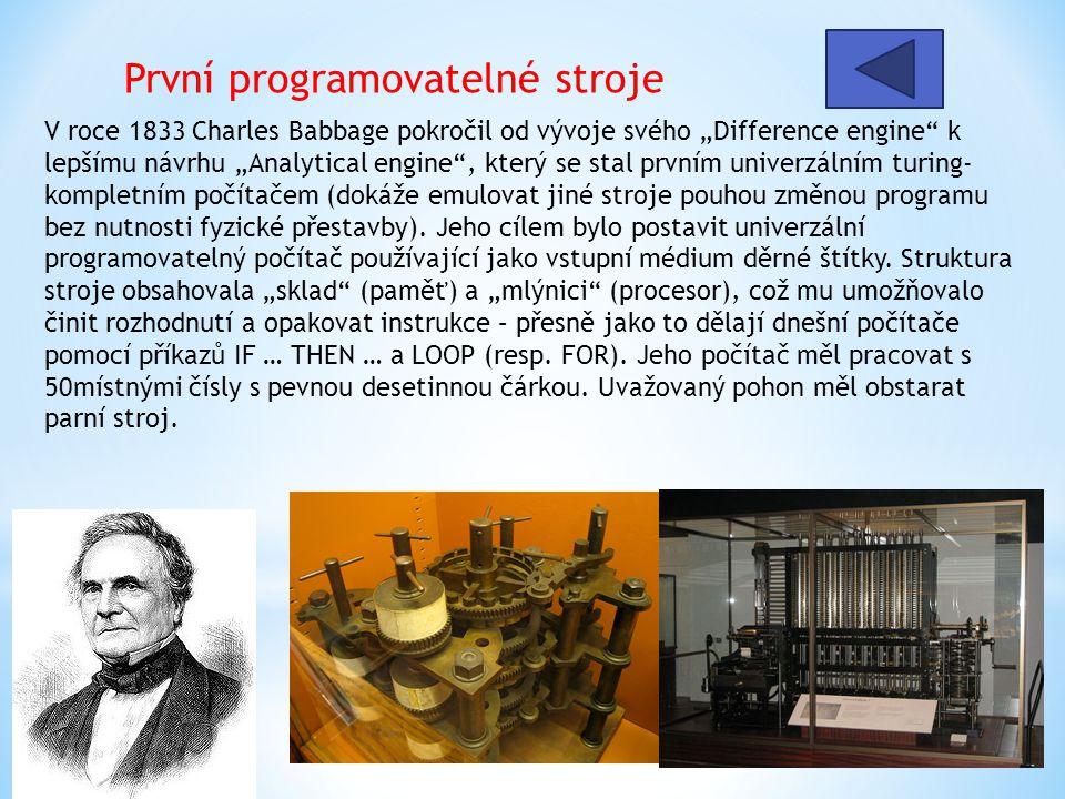 První programovatelné stroje