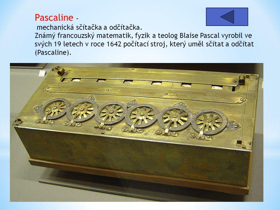 Pascaline – mechanická sčítačka a odčítačka
