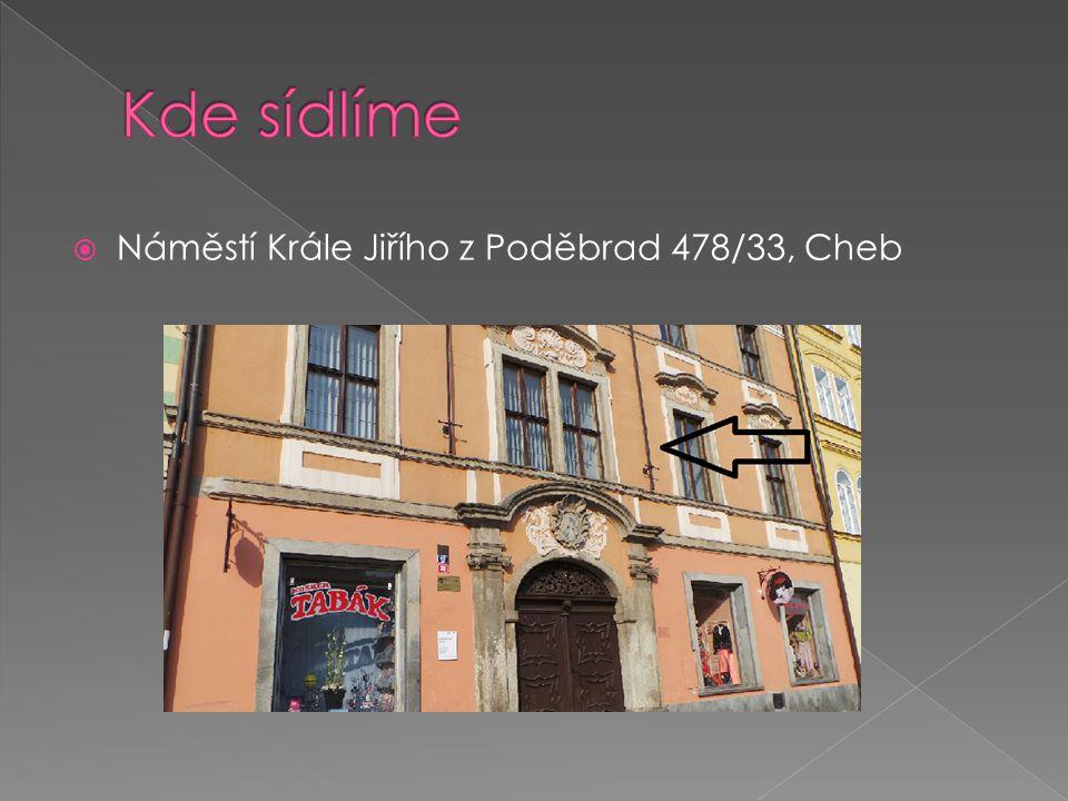 Kde sídlíme Náměstí Krále Jiřího z Poděbrad 478/33, Cheb