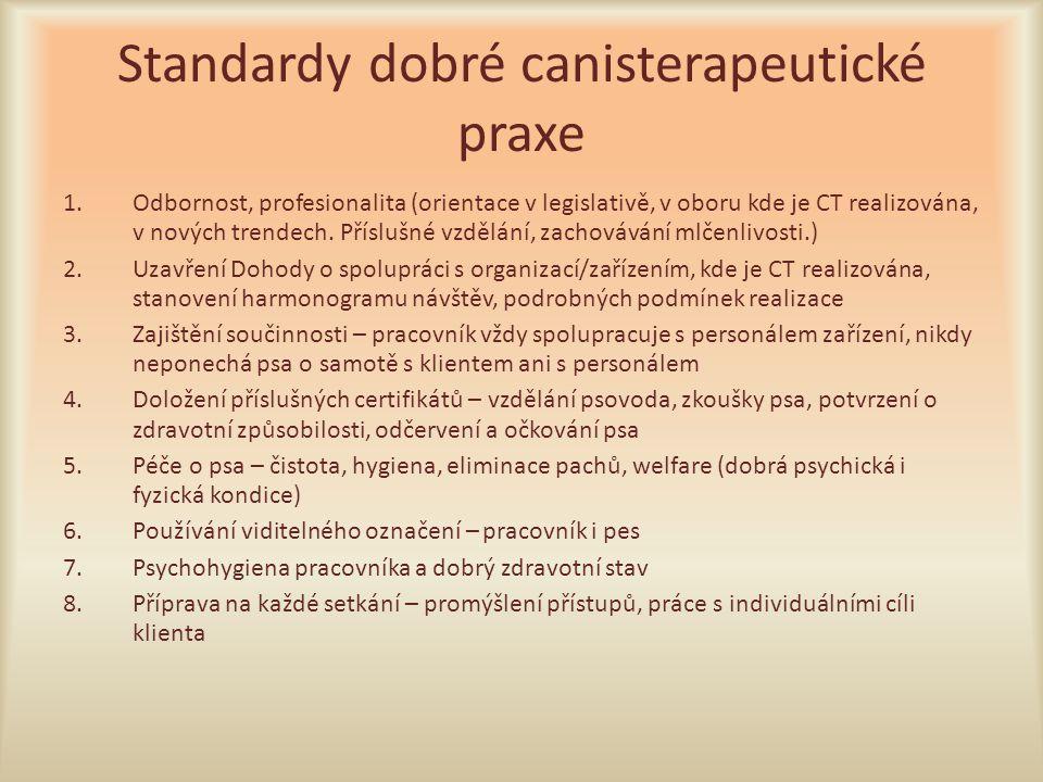 Standardy dobré canisterapeutické praxe