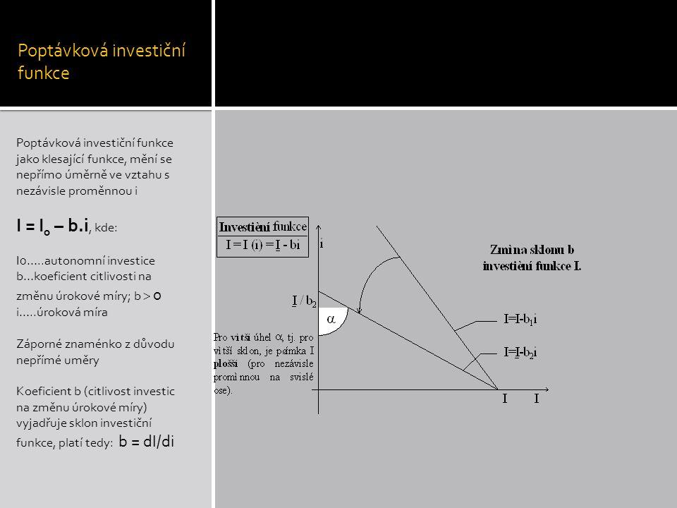 Poptávková investiční funkce