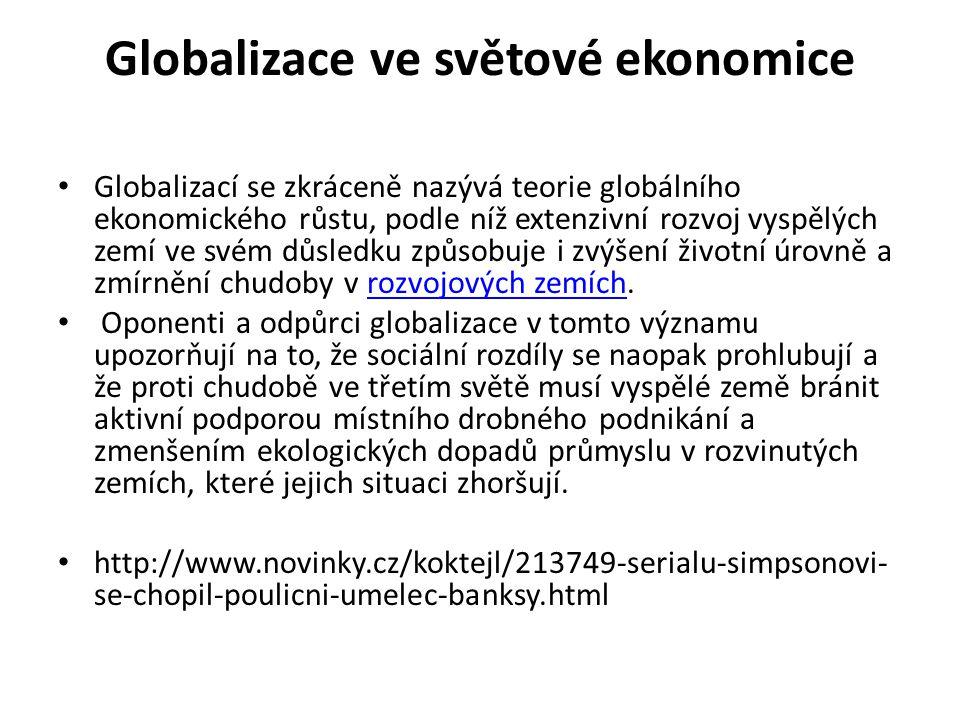 Globalizace ve světové ekonomice