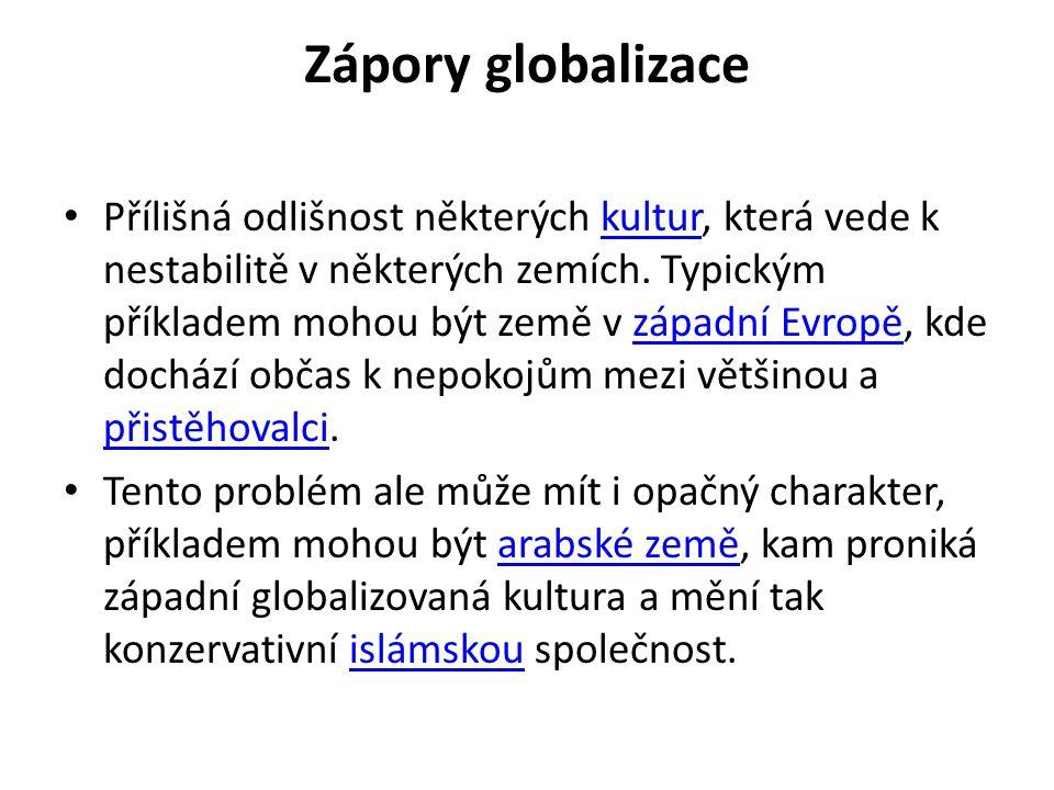 Zápory globalizace