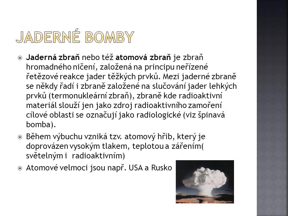 Jaderné bomby