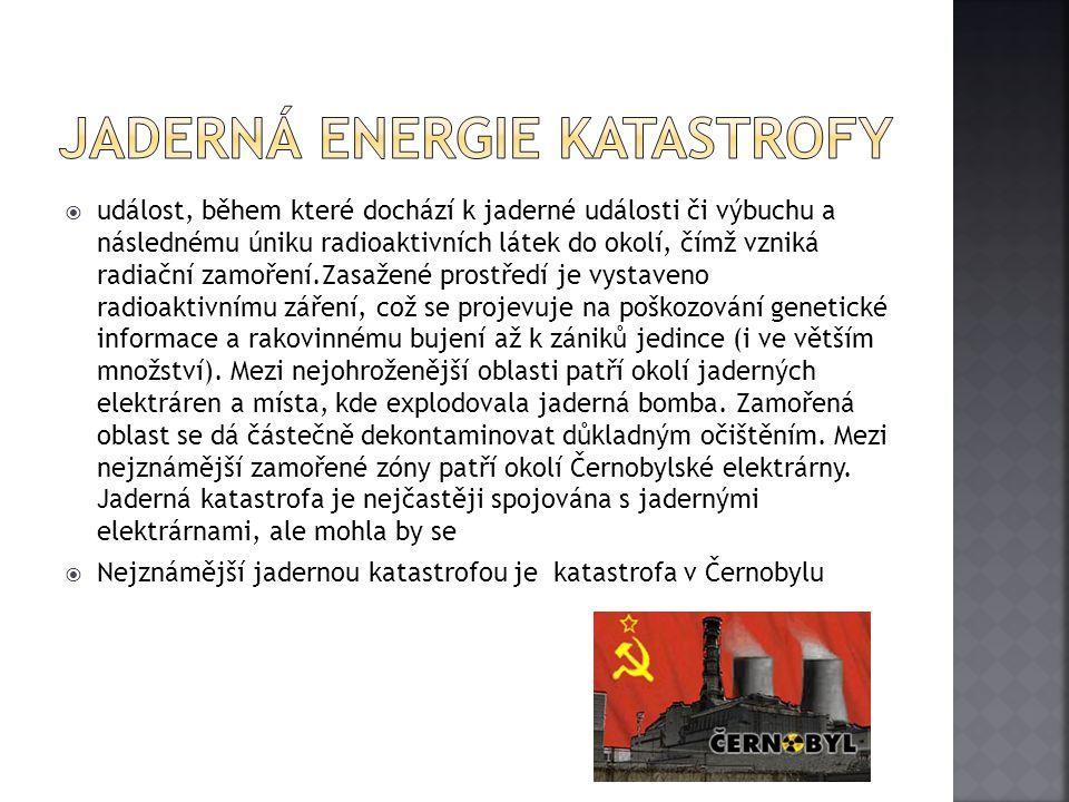 Jaderná energie katastrofy