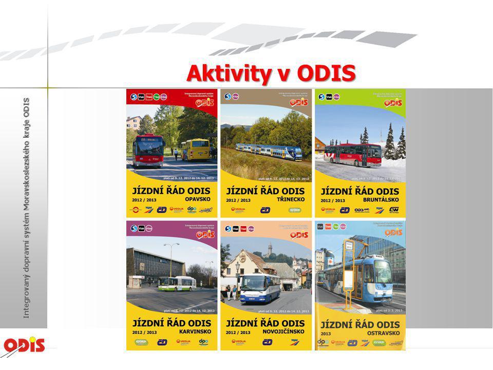 Aktivity v ODIS Integrovaný dopravní systém Moravskoslezského kraje ODIS Žďár nad Sázavou 2013