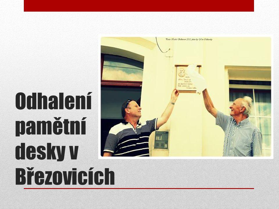 Odhalení pamětní desky v Březovicích