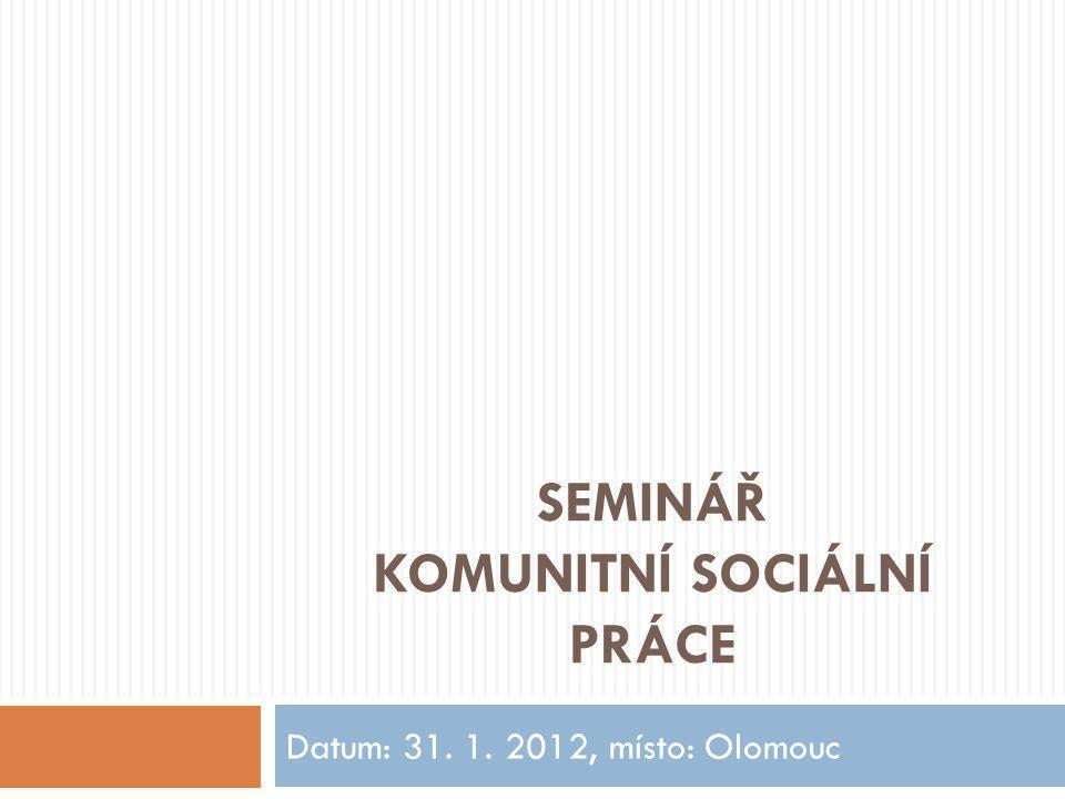 Seminář Komunitní sociální práce