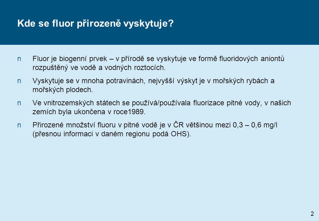 Kde se fluor přirozeně vyskytuje