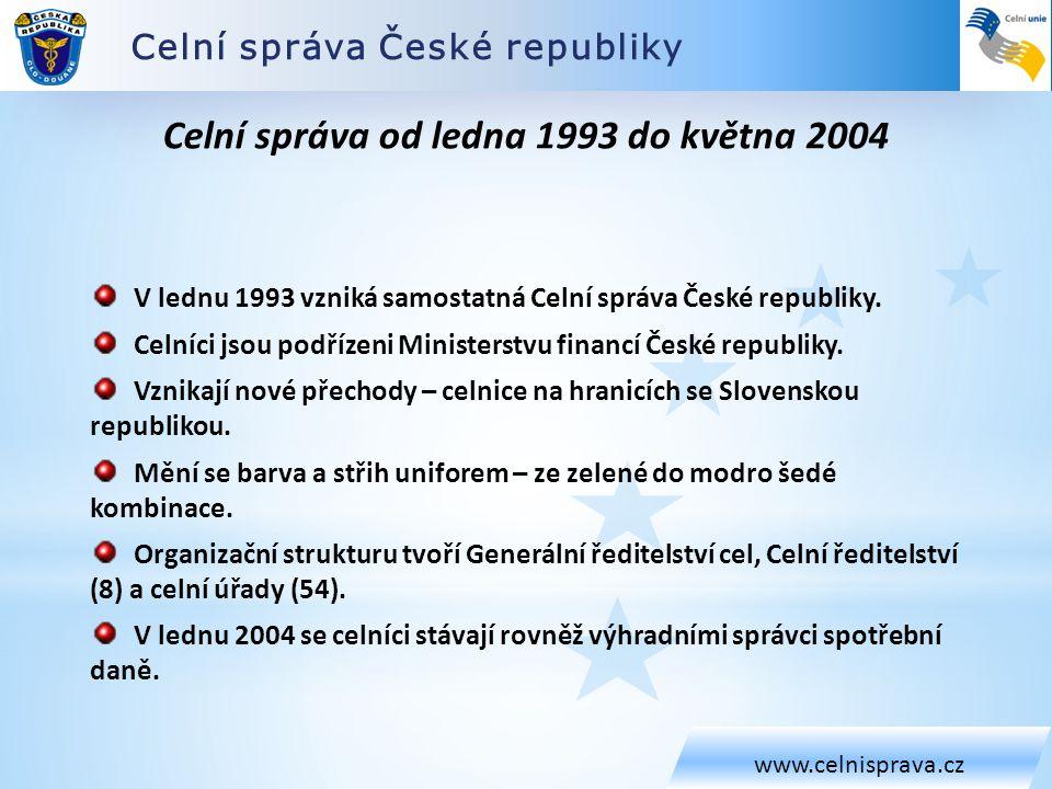 Celní správa od ledna 1993 do května 2004