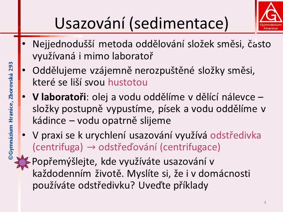 Usazování (sedimentace)