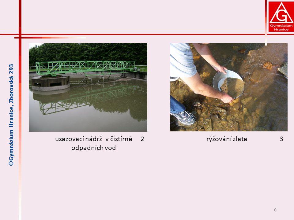 usazovací nádrž v čistírně odpadních vod