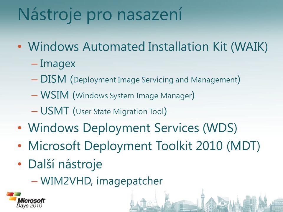 Nástroje pro nasazení Windows Automated Installation Kit (WAIK)